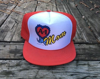 Retro Mom Red Trucker Hat - 1983
