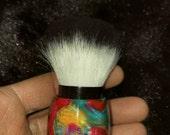 Luxury series Tye Dyed Acrylic Kabuki Makeup Powder Brush KB4