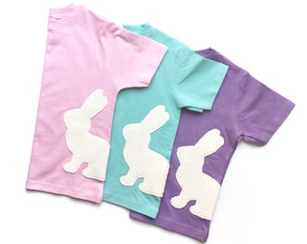Easter Bunny T Shirt, Easter Clothing, Spring Shirt, Pastel Clothing, Kids Easter Gift, Easter Basket Filler, Rabbit Shirt, Gifts Under 25,