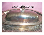 Butter Dish - Vintage Wm Rogers Silver Plated Covered Butter Dish - CLEARANCE SALE
