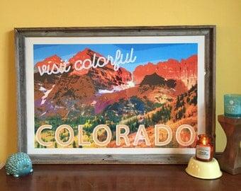 Colorful Colorado Poster
