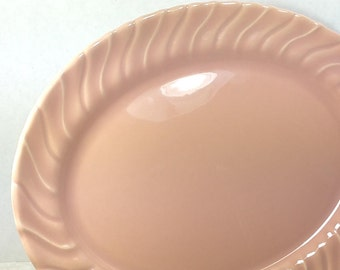 "CORONADO PLATTER, 1940's Franciscan Pottery, 11"", Glossy Coral, Vintage Collectible Tableware, Dishes"