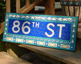 NYC Subway Mosaic Glass Sign or Install - 86th St - New York City