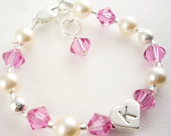Flower Girl Bracelet in pink - or any color