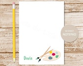 personalized notepad . artist notepad . art note pad . personalized stationery . painting stationary . art teacher gift