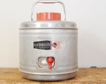 Vintage Featherflite Insulated Aluminum Cooler Jug