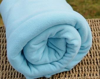 Microfleece Fabric, Aqua Blue, by the yard