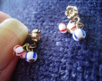 Earrings, Post Drop, 60s,DangleEarrings, Vintage Earrings, Vintage Jewelry, Posts, Vintage