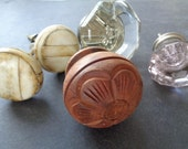 KNOBS, vintage collection, wood, glass, ceramic