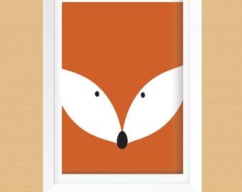 Fox Wall Art clever fox | etsy