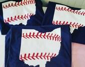 Ohio State Baseball Shirts, Baseball State Shirt, Baseball Mom Shirt, Ohio Shirt, Ohio Baseball Shirt, Baseball Mom, State Baseball Shirt