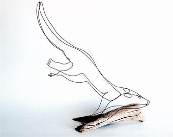 Otter Wire Sculpture, Swimming Otter, Wire Sculpture, Wire Art, 472192878