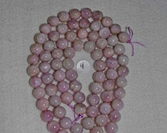 Kunzite, Kunzite Bead, Kunzite Smooth Bead, Natural Stone, Semi Precious, Lavender Kunzite, Opaque Kunzite, Half Strand, 10mm, AdrianasBeads