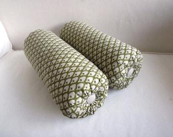 pair bolster lumbar throw pillows 6x14