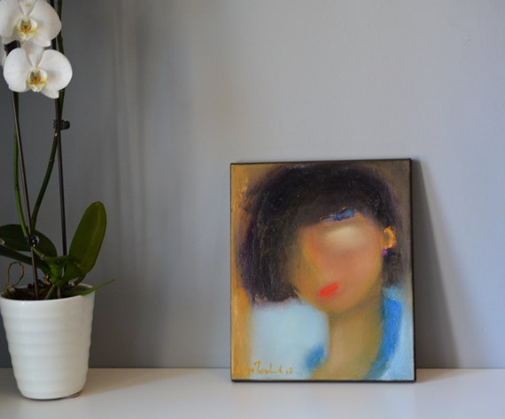 modern women small painting original art on Etsy Canada your lady stylist designer she got style 10x12