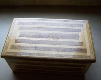 Hand Crafted Inlaid Wood Box