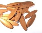 Copper Pieces Enameling Supplies Twenty (20) Stamping Blanks Engravable COPPER 18 Gauge Petals Blanks Enamel Jewelry Supplies (J144)