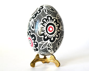 Black and White home decor ornament for easter