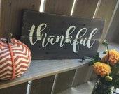 Thankful - Pallet Sign