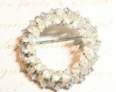 Brilliant Large Rhinestone Vintage Brooch Pin Wedding Bridal Vintage Jewelry