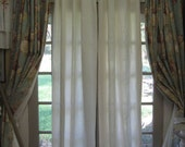 For Emily---Pair of Unlined Washed Linen Curtains-Light Filtering Curtains-Rod Pocket or Clip Rings-Single Width Panels-Washed Linen Pair