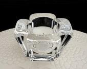 Vintage Orrefors Lead Crystal Votive Glass Tea Light Candle Holder