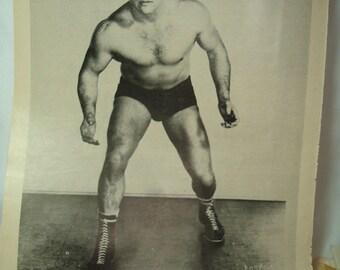 1953 Courier Magazine Vern Gagne Wrestler ad.