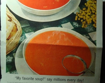 1955 Campbells Tomato Soup Ad.