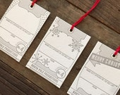 Letterpress holiday tag assortment - Set of 6