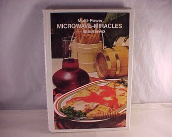 Sanyo Microwave Miracles Cook Book 1979