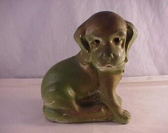 Plaster Puppy Dog Figurine Fair Carnival Prize