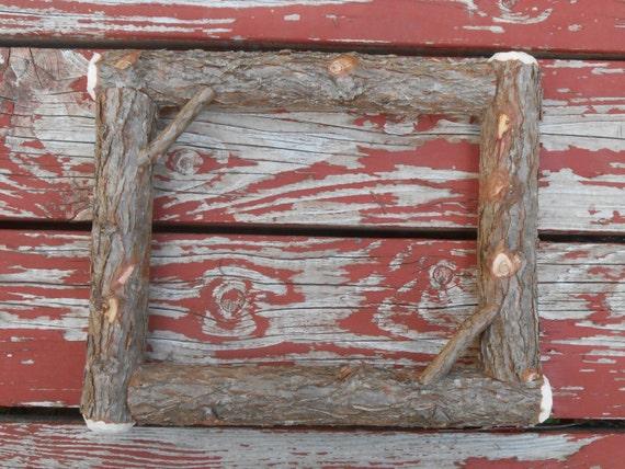Log Picture Frames : Natural Bark Rustic Cedar Log Picture Frames by logcabindecor