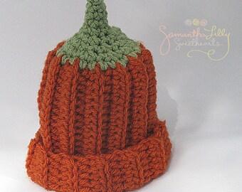 Pumpkin Hat, crochet pumpkin hat, crochet pumpkin beanie, pumpkin beanie, pumpkin, crochet pumpkin