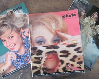 1960s INTERNATIONAL PHOTO TECHNIK magazine - Grossbild Photography Art / Trade mag, German /English language edition - 1961, 1964, 1967