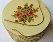 Vintage Princess Wicker Sewing Basket, Yellow
