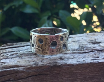 Sterling Silver Holy Artisan Wide Band Ring