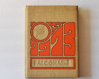 back to school sale // Vintage 1973 Falconer NY High School Yearbook // Falconaire, Western New York