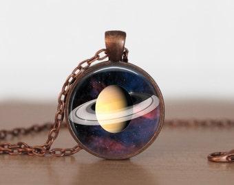 Saturn Pendant Jewelry  Saturn  Necklace