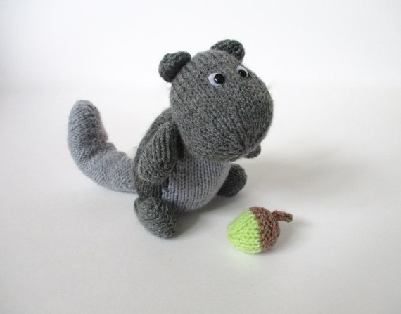 Finsbury Squirrel toy knitting pattern by fluffandfuzz on Etsy