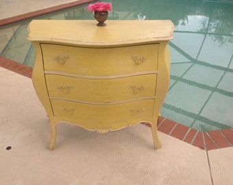 "THIS is THE BOMBE / Vintage Bombay Nightstand / Bombay style Chest / 35"" Long / Shabby Chic Style  / Summer Sale at Retro Daisy Girl"