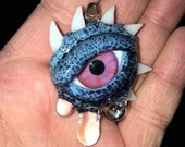Reserved for Ragbag8 a trio of crying Eyeball Pendants