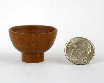 Miniature urushi style bowl in sapele