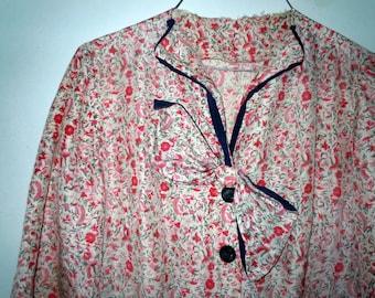 Vintage 1930s printed Day Dress