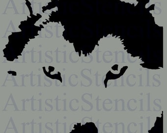 STENCIL Husky Dog Face  7 X 10