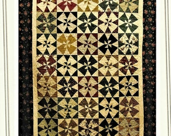 Quilt Pattern, A Mid-Winters Night, Pieced Quilt, Bed Quilt, Wall Hanging, Cottage Rose Quilt, Deb Eggers, PATTERN ONLY