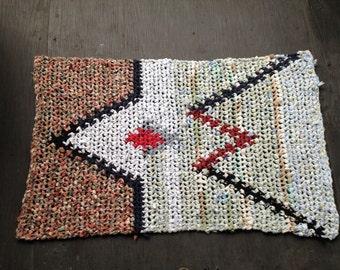 Eagles Heart Tapestry Crochet Rag Rug