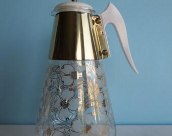 Vintage Glass Carafe - Coffee Carafe - Mid Century Carafe