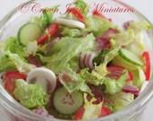 1:23 ONE Tossed Garden Salad in Glass Bowl by IGMA Artisan Robin Brady-Boxwell