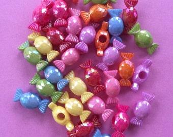 Candy Cabachon Acrylic 22mm 50 pcs