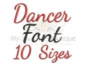 Dancing Script Machine Embroidery Font - Dancer Machine Embroidery Font - BX Embroidery Font Included - 10 Sizes - Instant Download
